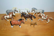 SCHLEICH PAPO & OTHERS HORSE FIGURINE ANIMAL ACTION FIGURE LOT PINTO STALLION