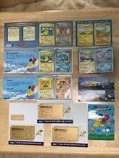 T35 Pokemon card Postcard seal Japan ANA Airlines Promo 10set Pikachu more rare