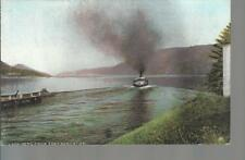 Loch Ness from Fort Augustus  Paddle Steamer Old Unposted Postcard