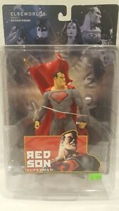 DC DIRECT ELSEWORLDS RED SON SUPERMAN SERIES ONE ACTION FIGURE NIB RARE NICE