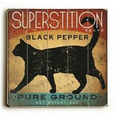 One Bella Casa 0004-8246-21 18 x 18 in. Superstition Black Pepper Cat Planked.