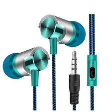 Universal 3.5mm In-Ear Stereo Earbuds Earphone With Mic For Cell iPhone Samsung