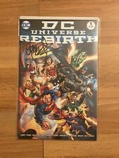 DC Universe Rebirth 1 Cover B Signed Geoff Johns