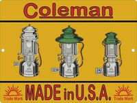 "1925 Coleman Lamp Lantern Camp Stove AD Man Cave Metal Sign 9x12/"" 60607"