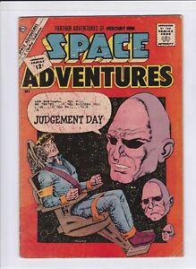 "SPACE ADVENTURE #45 VG+, ""Judgement Day"", ""Galactic Assassin"", Charlton 1962"