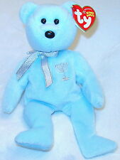 "TY POWDER BLUE BEAR-HAPPY HANUKKAH-9""-NEW W/TAG-2005!!!"