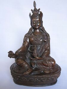 An old look copper BUDDHA LAMA traditional statue hand made carving collectible