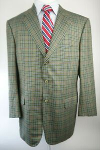 Brioni Cashmere Wool Blazer Jacket Size 46L Made in Italy