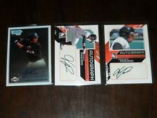 Lot Of 3 FRANCISCO PEGUERO Certified Auto Cards GIANTS