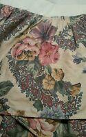 Croscill Garden Floral Pink Green tan  Bedskirt Dust Ruffle - Twin