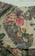Croscill Garden Floral Pink Green tan  Bedskirt Dust Ruffle - Twin