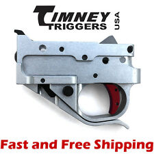 Timney Drop In Competition Trigger Group for Ruger 10/22 - Silver Housing w/Red