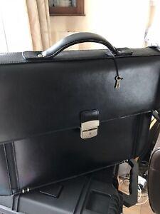 mens black leather satchel