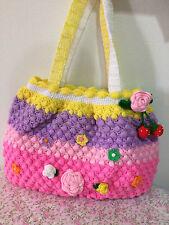 Japan Handmade Women Handbag Shoulder Bags Cute Flower Strawberry Rainbow Color