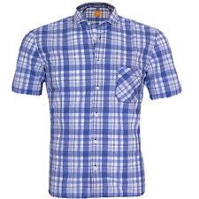 HUGO BOSS Kurzarm Herren-Freizeithemden & -Shirts aus Baumwolle