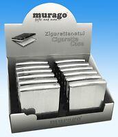 Zigarettenetui Metall Classic 18er Box Zigarettendose Silber Cigarette case box