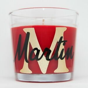 Memorial Personalised Candles With Initial & Name in Different Scents 25 hours