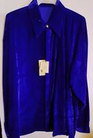 New Creme De Silk Premium Men's Fashion 100% Silk Soft Shirt (NAVY)