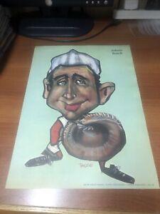 1969 TASCO POSTER JOHNNY BENCH CINCINNATI REDS HALL OF FAME