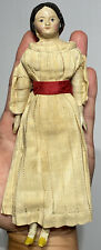 "Early Antique 8"" German 1800's Milliners Model Doll w/ Original Outfit Fantastic"