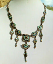 TARATATA  COLLIER - émail & strass - Blue NECKLACE SIGNED French Creator