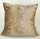 Super Soft Crushed Velvet Cushion Covers Small & Large Sofa Pillow Plain Cushion
