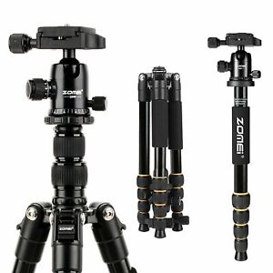 ZOMEI Portable Q666 Professional Tripod & Ball Head Travel for Canon DSLR Camera