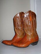 Larry Mahan Caiman Crocodile  Tail Western Cowboy Boots sz 9½ EE
