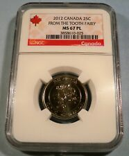 2012 CANADA NGC MS67PL 25c TOOTH FAIRY PROOF LIKE QUARTER MS 67 PL