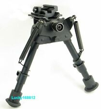 "6-9"" Harris Style Bipod Heavy Duty 50 Degree swivel tiltable Pivot&sling adapter"
