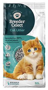 Breeder Celect Recycled Paper Cat Litter 30L