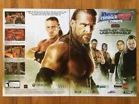 WWE Smackdown vs. Raw 2009 Poster Ad Art Print Promo Shawn Michaels ECW WWF WCW