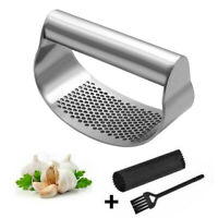 Stainless Steel Garlic Press Crusher Kitchen Squeezer Mincer Rocking Rocker New