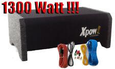 """SUBWOOFER AUTO 8"""" GIA' AMPLIFICATO 1300 WATT 20 CM. BOX CON KIT CAVI COMPLETO!!!"""