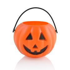 1PC Candy Holder Smile Plastic Pumpkin Bucket Basket Halloween Party Decorations