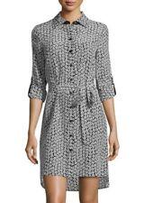 New Diane von Furstenberg Prita silk shirtdress in floral print US8 UK12 I44