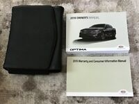 2019 Kia Optima Owners Manual With Case OEM Free Shipping