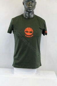 Timberland MEN S/S ELEVATED TREE LOGO T-SHIRT GREEN/ORANGE TB0A2AX7-U31