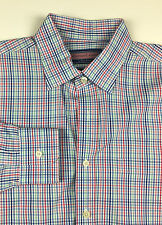 VINEYARD VINES Men's Long Sleeve Casual Burgee Shirt Size L Large Blue Red Green