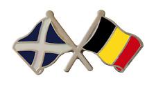 Belgique Drapeau & Écosse Drapeau Amitié Courtoisie Broche Badge