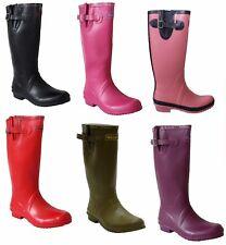 069dfe3db346 WOMENS LADIES ADJUSTABLE WIDE CALF RAIN FESTIVAL WELLIES WELLINGTON BOOTS  UK5-8