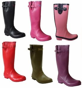 WOMENS LADIES ADJUSTABLE WIDE CALF RAIN FESTIVAL WELLIES WELLINGTON BOOTS UK5-8