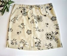 Women's  100% Linen Mini Skirt Drawstring Beach Preppy Classic unlined medium