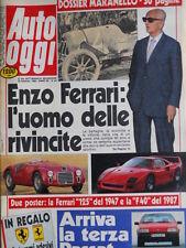 Auto Oggi n°64 1988 Enzo Ferrari - con 2 Poster Ferrari F40 e F125 (1947)[SC.7B]