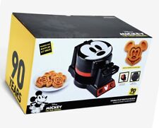 Disney Mickey Mouse 90th Anniversary Double Flip Waffle Maker New in Box