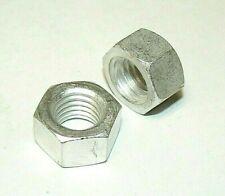 """5/8""""-11 Aluminum Finish Hex Nuts - Lot Of 10 Pcs."""