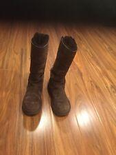 UGG Roseberry 5734 Brown Suede Sheepskin Winter Boots Sz. 7