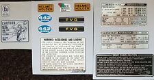 HONDA CB250N CB400N  SUPERDREAM CAUTION WARNING DECAL KIT