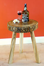 Side Table Tree Pane Coffee Table Table Unique Solid Wood Disc Natural