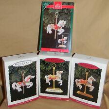 Lot of 4 Hallmark Tobin Fraley Porcelain & Brass CAROUSEL Horses! #1-#4 w/stands